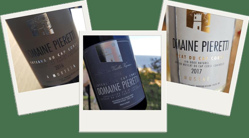 Vins rouges et muscat domaine Pieretti