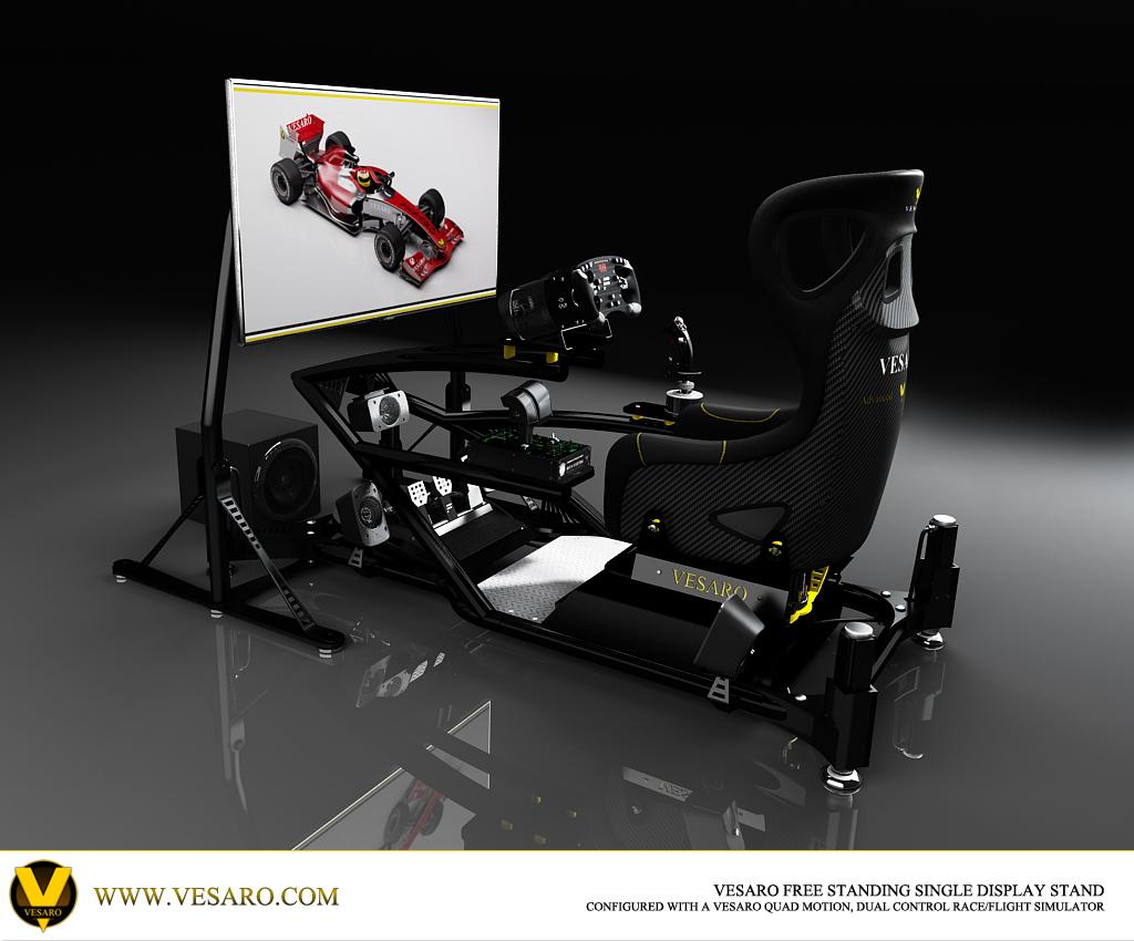 flight simulator chair motion gold dining chairs pc sim seat  vesaro