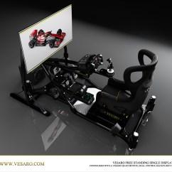 Flight Simulator Chair Motion Steel Covers Pc Sim Seat  Vesaro