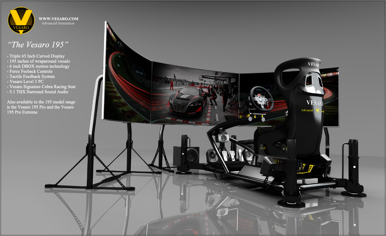 driving simulator chair kneeling office vesaro