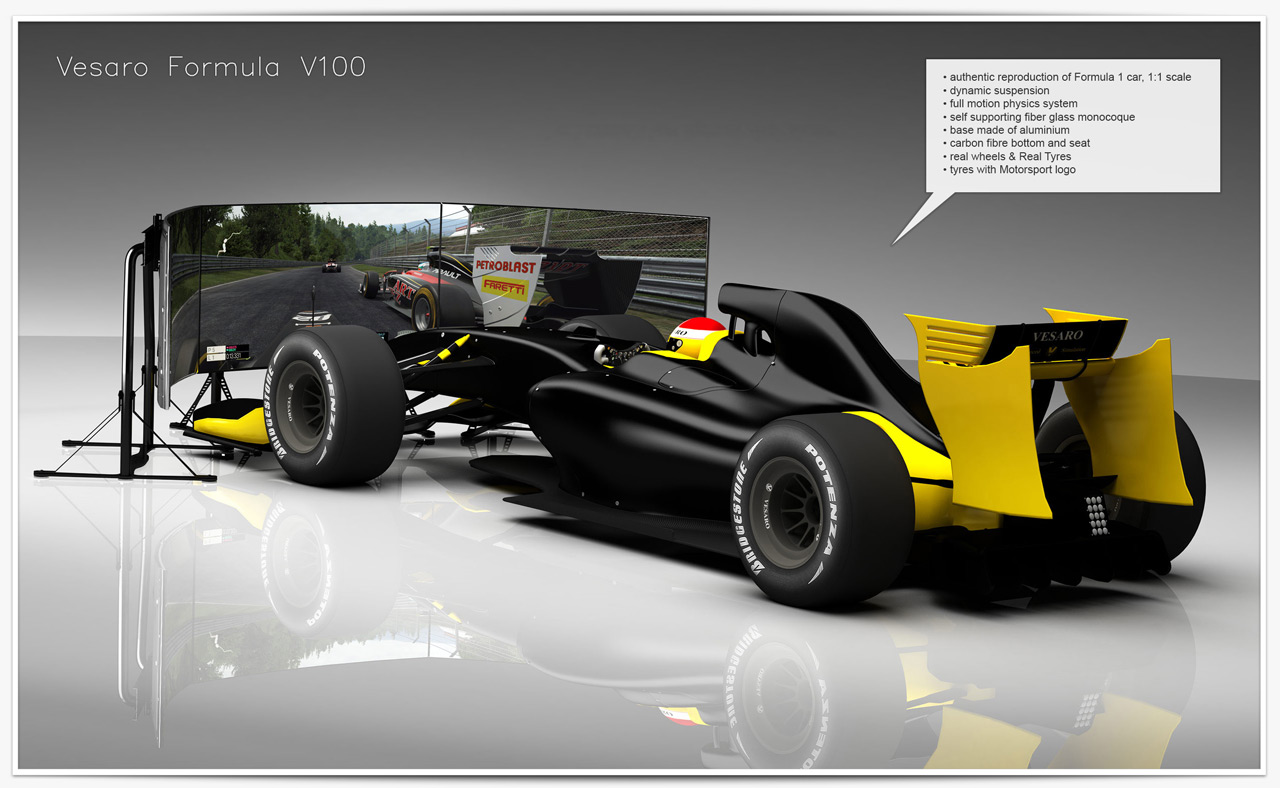 hydraulic racing simulator chair bedroom commode uk vesaro advanced simulation flight and game simulators formula v75 for professional training commercial entertainment