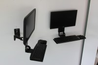 VESA Keyboard Tray w/ Integrated Wall Mount