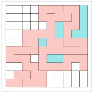 A step-by-step maze generation process