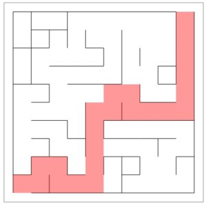 A solution to the imperfect maze