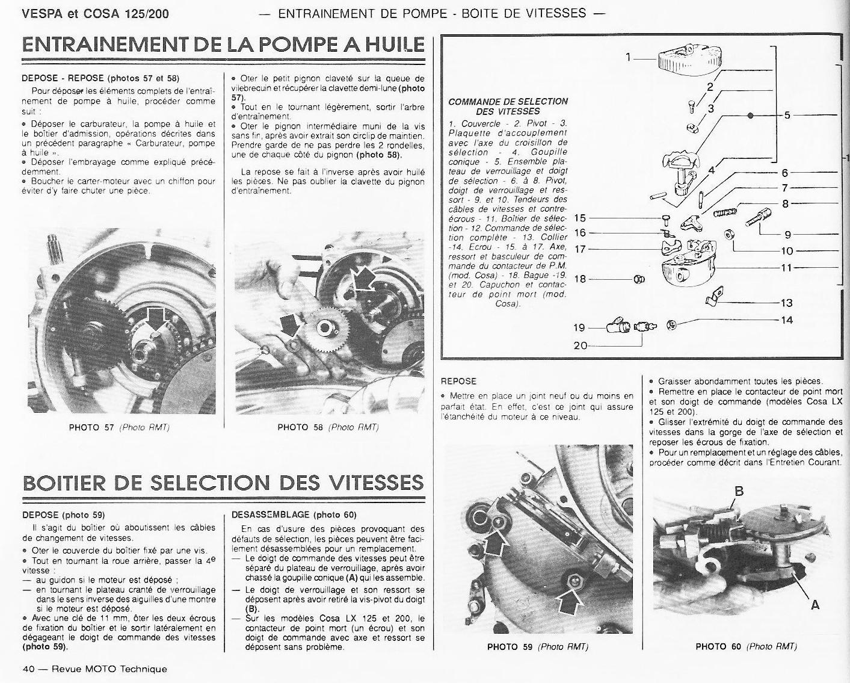 Revue technique Vespa PX / COSA
