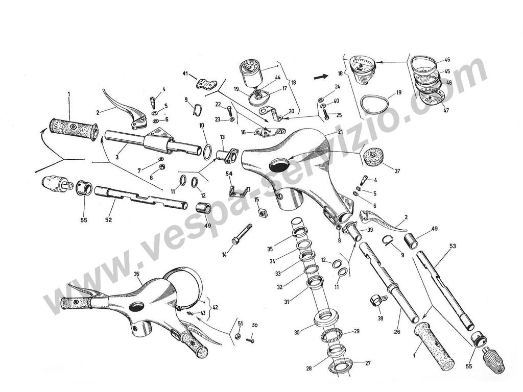 Schemi/Esplosi: tavole delle Parti Motore e Carrozzeria