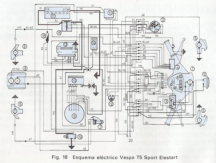 ZONA TECNICA VESPA :: Interruptor Vespa T5