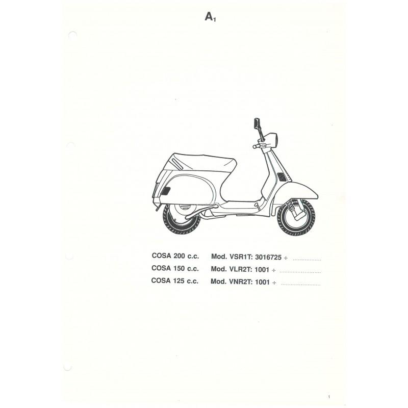 Catalogue de pièces détachées Scooter Vespa COSA 1992