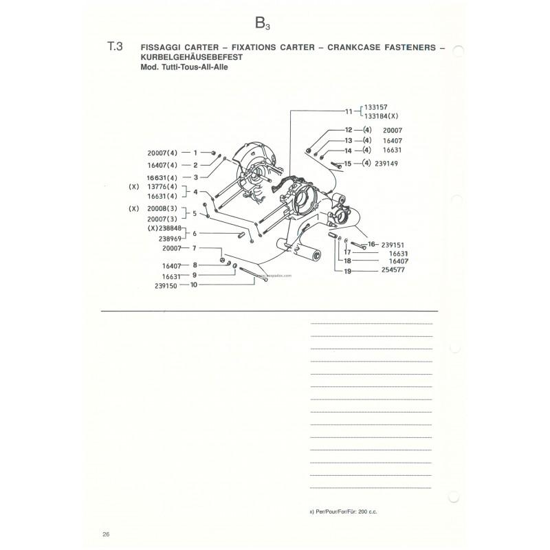 Catalogo de piezas de repuesto Scooter Vespa COSA 1992