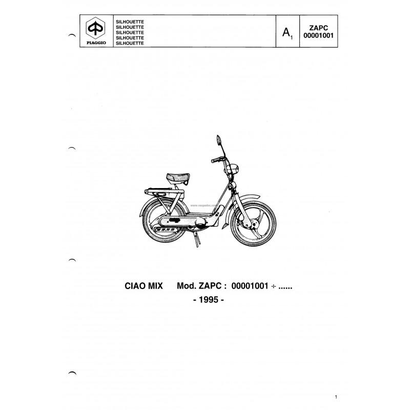 Catalogue of Spare Parts Piaggio Ciao MIX mod. ZAPC, 1995