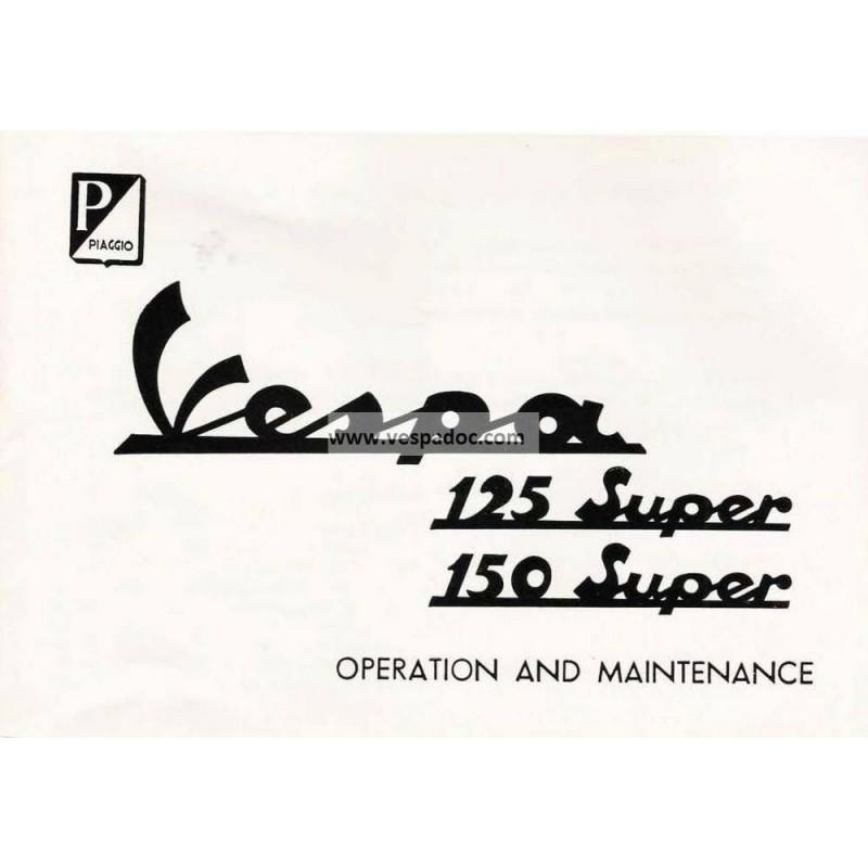 Bedienungsanleitung Vespa 125 Super mod. VNC1T, Vespa 150