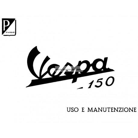 Manuale de Uso e Manutenzione Vespa 150 mod. VB1T