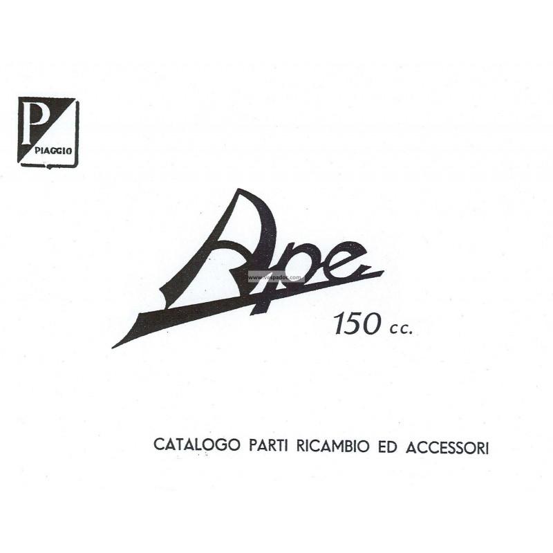Catalogo de piezas de repuesto Piaggio Ape B 150 de 1953