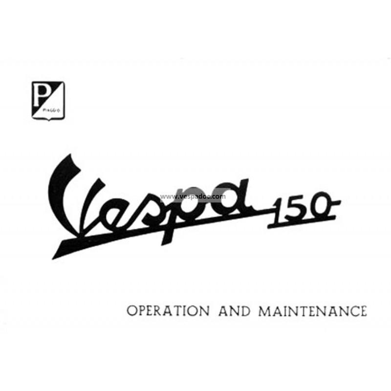Manuale de Uso e Manutenzione Vespa 150 mod. VBA1T