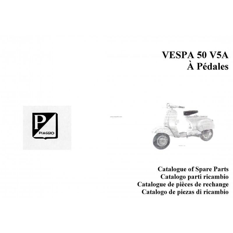 Catalogue de pièces détachées Scooter Vespa 50 à pédales