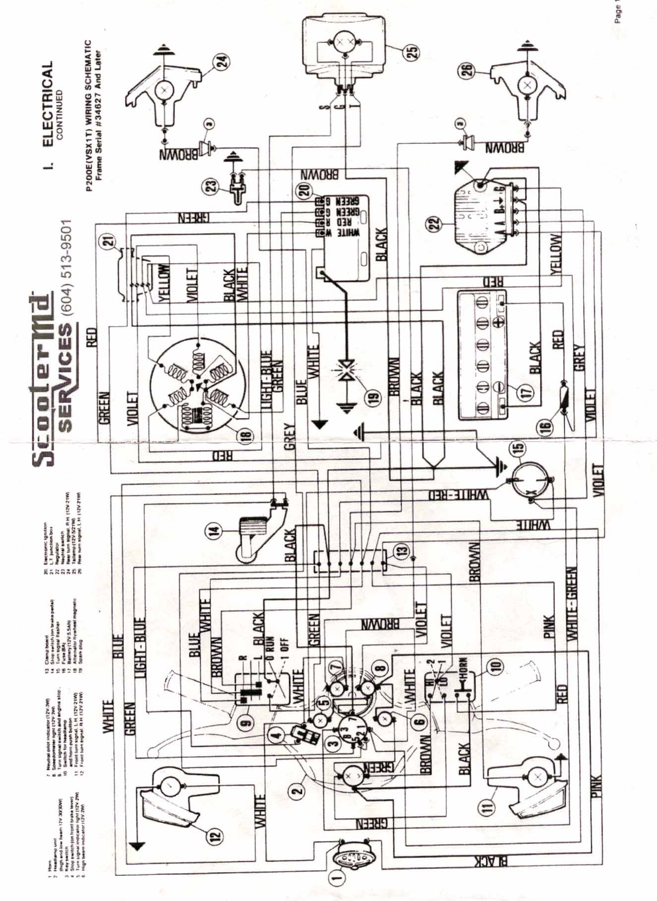 Vespa Px Wiring Loom Diagram : 28 Wiring Diagram Images