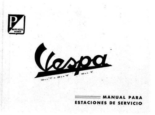 Manuale d'Officina Motovespa 125-150 (spagnolo
