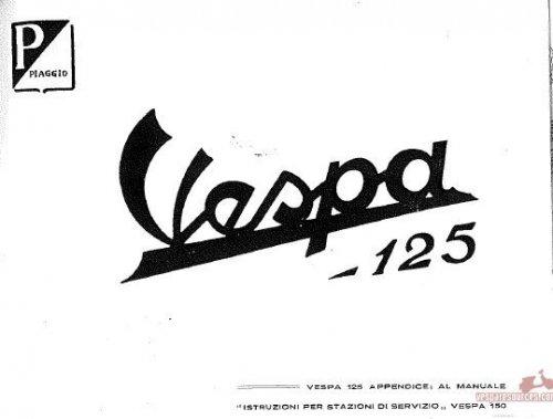 Appendice per Vespa 125 VN2T a Manuale Officina VL