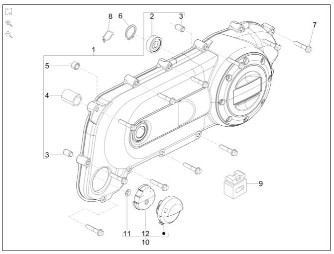 82521R COJINETE TAPA CARTER 28x8x9mm PIAGGIO 50-100 2T/4T