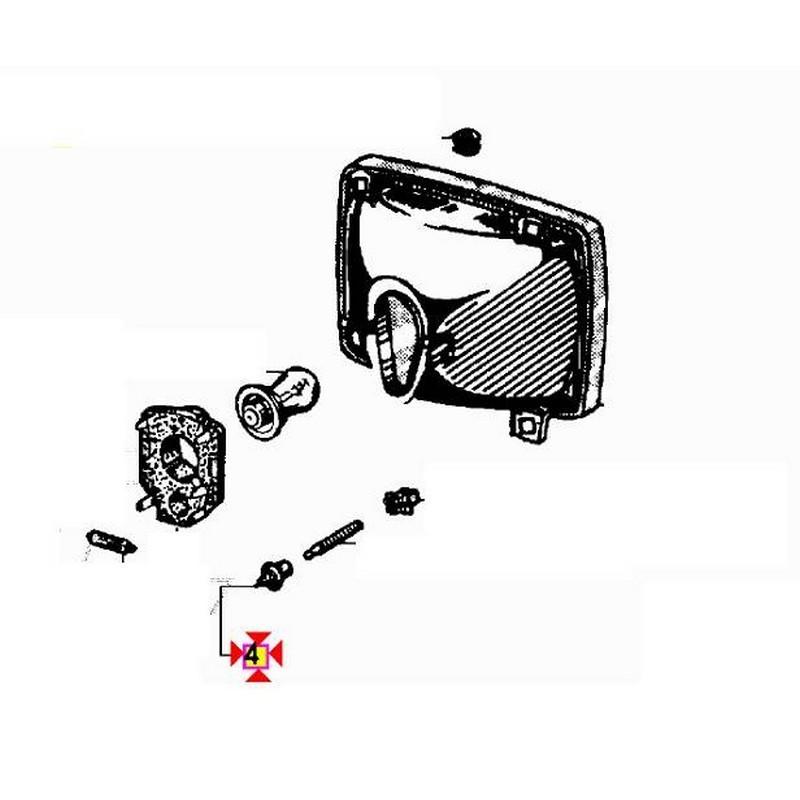 Tassello fanale anteriore APE 50 APE POKER APE CAR MAX Diesel