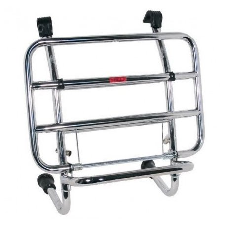 Chromed front luggage carrier with rods for Vespa 50 N-L-R
