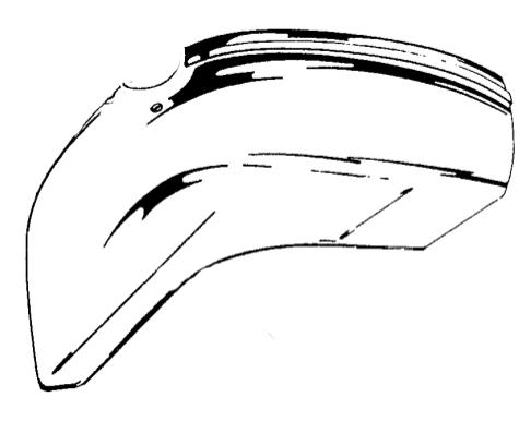 Kotflügel / Schutzblech für Vespa 50-125/S /XL Metall