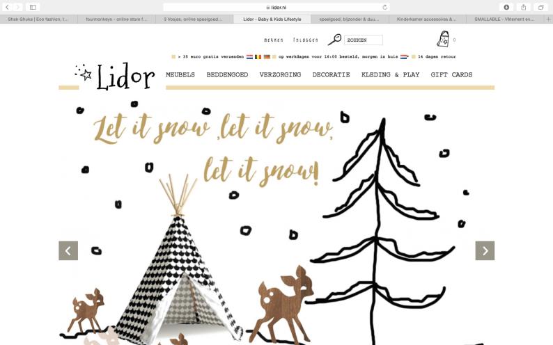 Lidor online shop