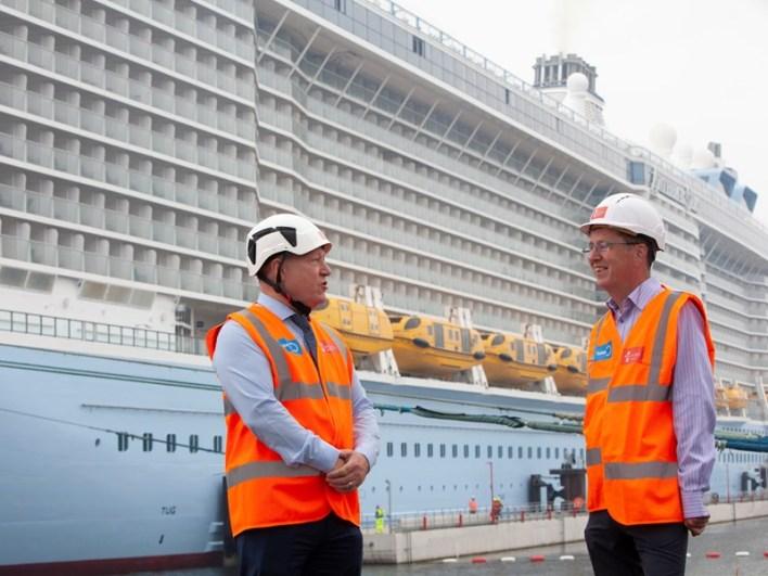 First cruise ship calls at Greenock since pandemic struck