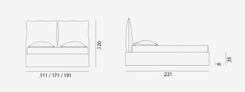 achetez votre lit double gervasoni chez