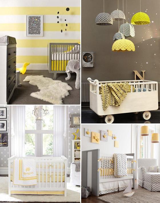 Muito Quarto do Bebê   Cinza + Amarelo - Vestida de Mãe   Blog sobre  OC89