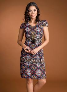 Vestido Tubinho Estampa Vitral