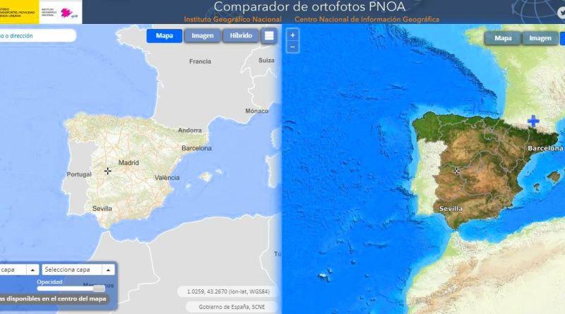 COMPARADOR DE VUELOS HISTÓRICOS PNOA DE IGN