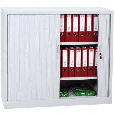 armoire rideaux blanc h105 x l120 x p46 cm