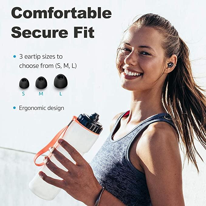 Ragazza con ESR Mini Auricolari Wireless Bluetooth, Cuffie con Microfono incorporato