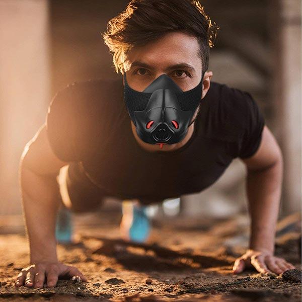 Maschera da allenamento Resistenza respiratoria Running