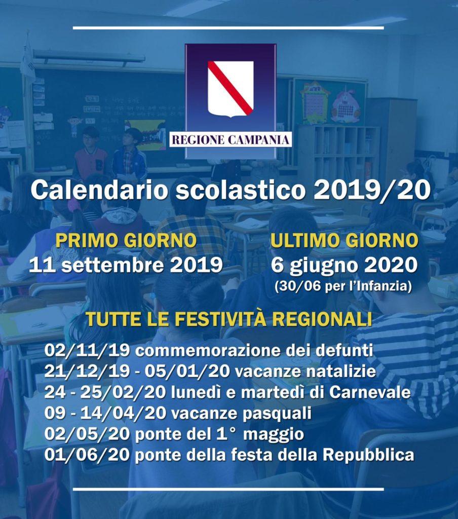 Pasqua 2020 Data Calendario.Ecco Il Calendario Scolastico 2019 2020 Vesuviano News