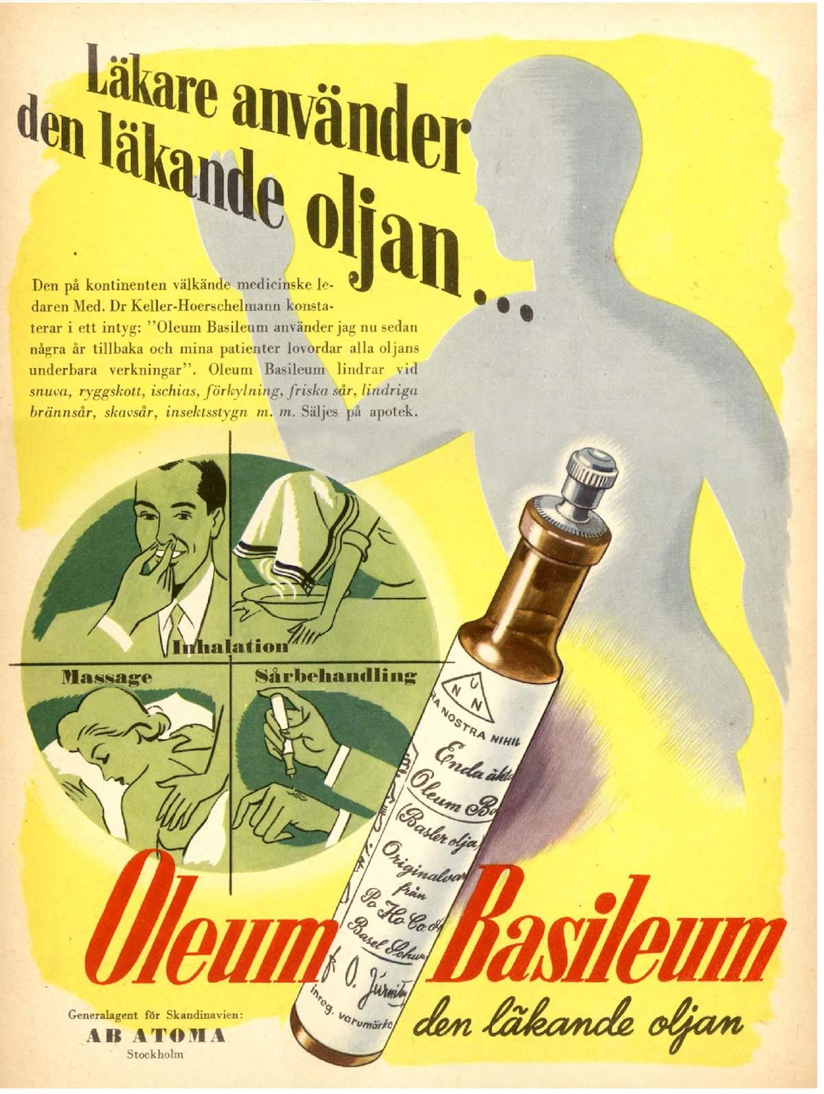 Oleum Basileum - Produktfoto: AB Atoma