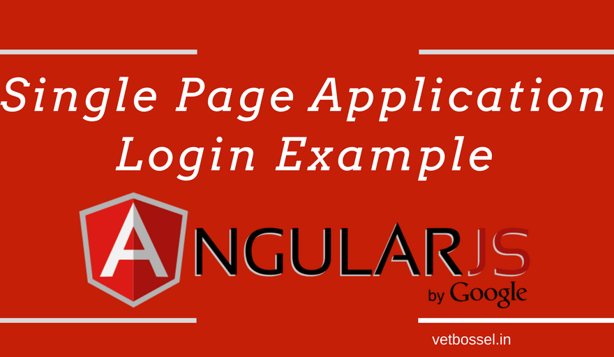 Single Page Application Login Example