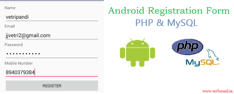 Android login registration with php mysql