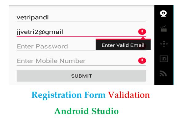 registration form validation android