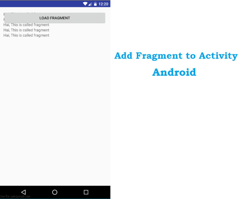 adding fragment to activity in android