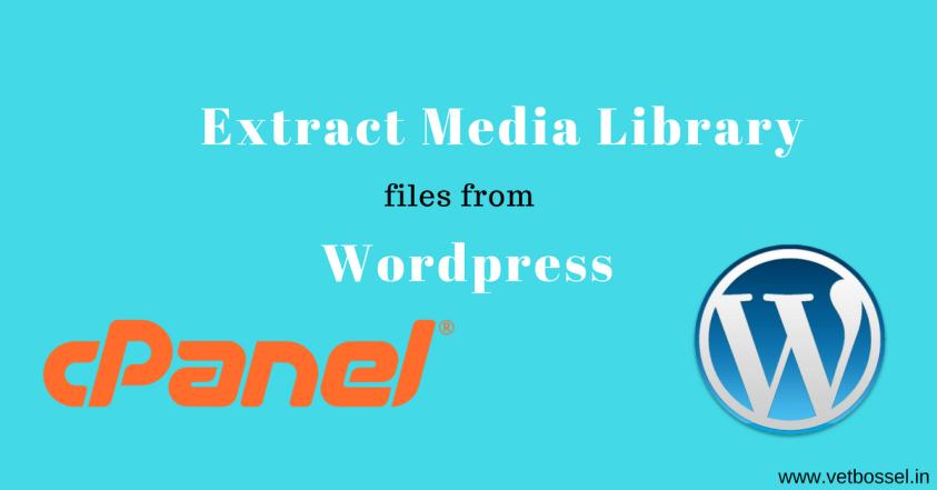 Extract Media Library files from Wordpresa