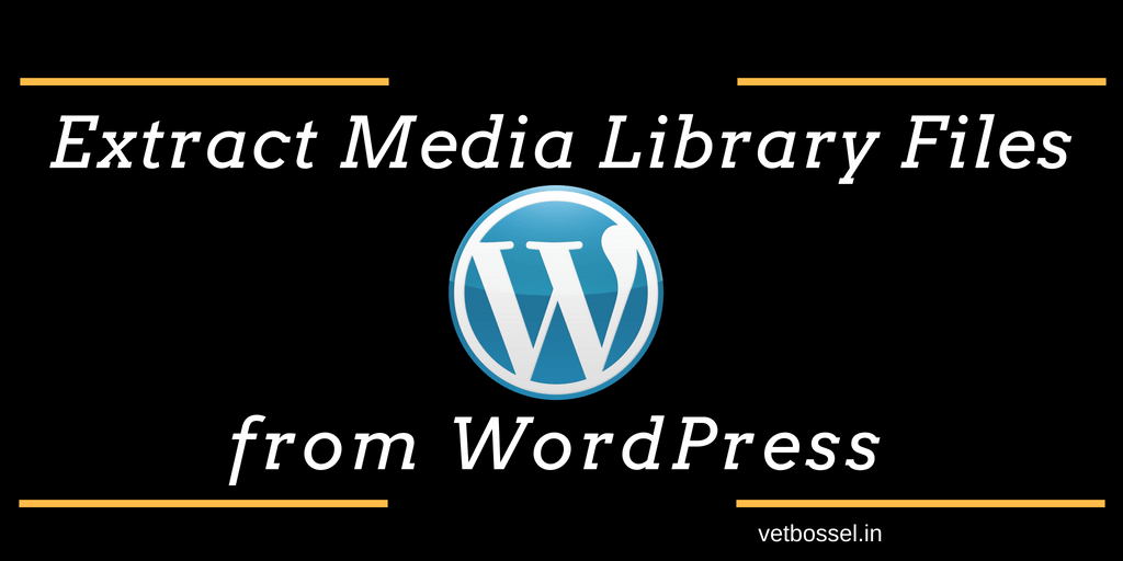Extract Media Library Files from WordPress