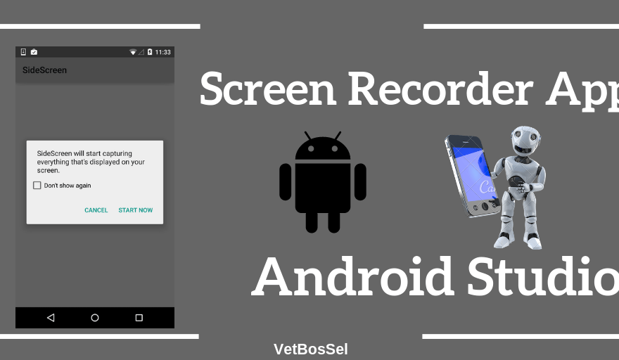 Create Android Screen Recorder Application android studio