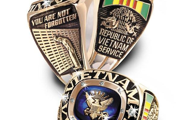 Vietnam War Veteran Birthstone Stadium Rings Vetcom