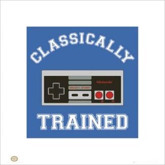 Classically Trained Nintendo Retro gaming style kunstdruk 40x40cm VC 0273