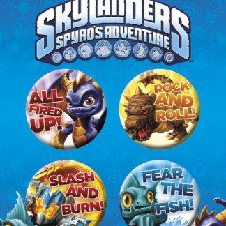 Skylanders Spyro's adventures Pin Badges