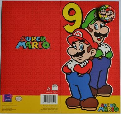 Super Mario 9 Jaar Verjaardagskaart