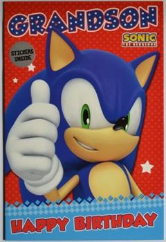 Sonic Grandson Verjaardagskaart