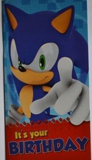 Sonic Verjaardagskaart